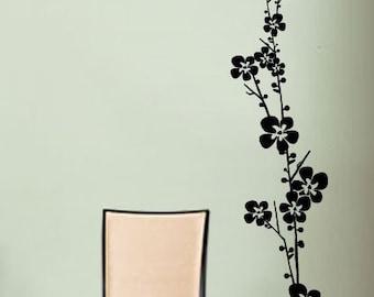 Vinyl Wall Decal Sticker Floral Flower Stem 60x14