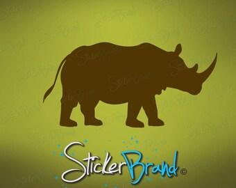 Vinyl Wall Art Decal Sticker Rhinoceros 505