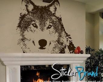 Vinyl Wall Art Decal Sticker Wolf Face 521A