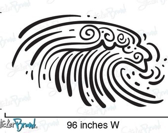 Vinyl Wall Art Decal Sticker Ocean Wave 540B