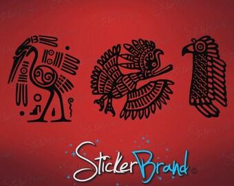 Vinyl Wall Art Decal Sticker Mayan Animal Symbols 542