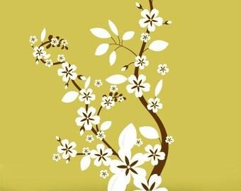 Vinyl Wall Decal Sticker Flower Floral Asian Blossom item 284A