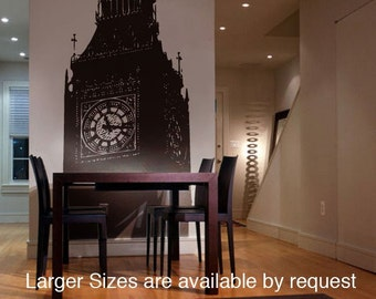 Vinyl Wall Decal Sticker Big Ben Clock Britain U.K. 7ft