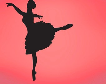 Vinyl Wall Decal Sticker Ballerina Dancer 605