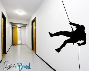 Vinyl Wall Decal Extreme Cliff Hanger Climber 769 Custom 92x56