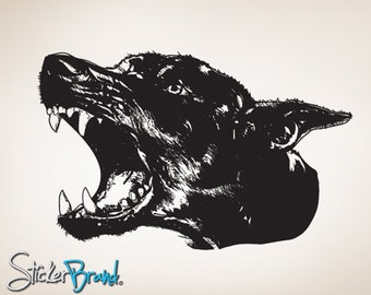 Vinyl Wall Decal Sticker Angry Dog   Item792B