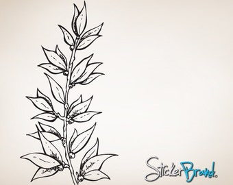 Vinyl Wall Decal Sticker Growing Flower Leaf Item798B