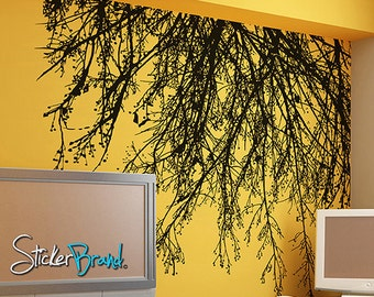 Vinyl Wall Decal Sticker Tree Branches Hanging Down Item804
