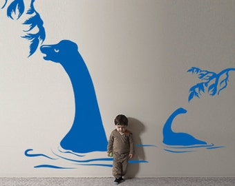 Vinyl Wall Decal Sticker Plant Eating Dinosaurs  GFoster139B