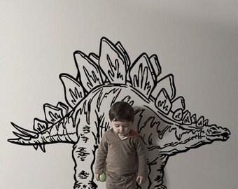Vinyl Wall Decal Sticker Dinosaur Dino Stegosaurus  KRiley117s