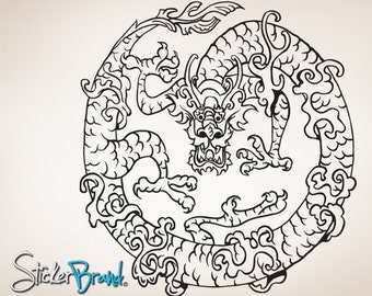 Vinyl Wall Decal Sticker Chinese Dragon 817s