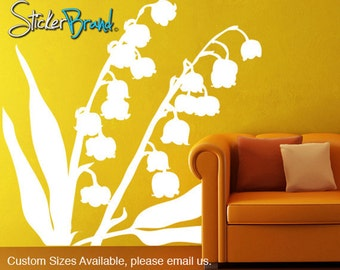Vinyl Wall Decal Sticker Lily of the Valley Flower   AC145m
