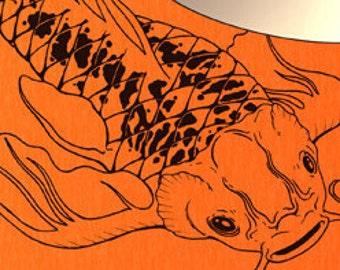 Vinyl Wall Decal Sticker Koi Fish AEdel117B