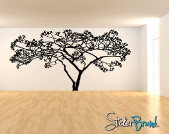 Vinyl Wall Decal Sticker Wide Tree 71inX111in item AC156A