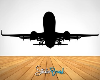 Vinyl Wall Decal Sticker Airplane Taking Off  item OSES101A