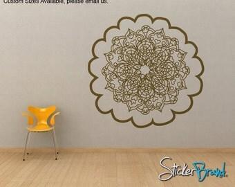 Vinyl Wall Decal Sticker Oriental Flower Motif item OSMB121B