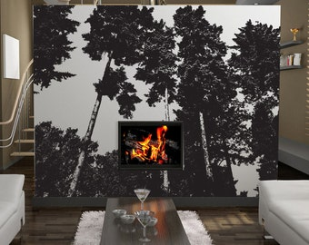 Vinyl Wall Decal Sticker Trees 857A