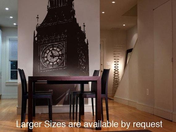 Vinyl Wall Decal Sticker Big Ben Clock Britain U.K. 7ft