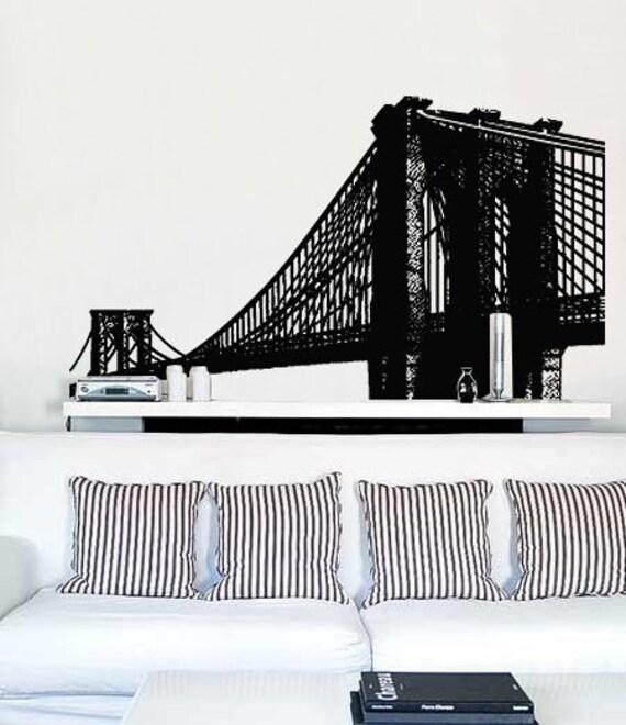 Vinyl Wall Decal Sticker Brooklyn Bridge New York Item - Custom vinyl decals brooklyn