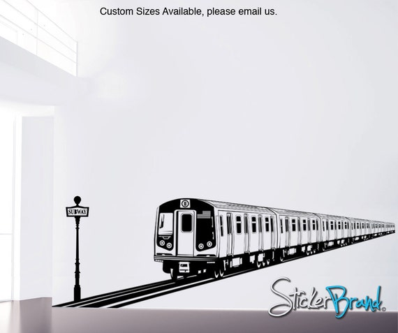 Vinyl Wall Decal Sticker NYC Train item OSES107s