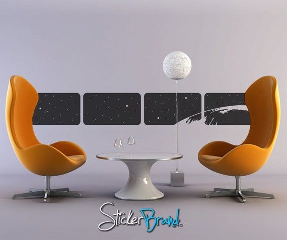Vinyl Wall Decal Sticker Space from a window  item OSMB104