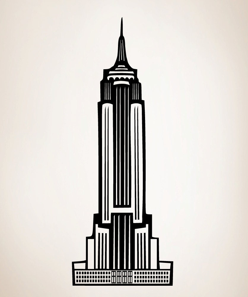 Vinyl Wall Art Decal Sticker Empire State Building NYC
