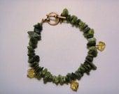 Green Serpentine Bracelet and Earring set