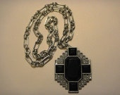 "Art Deco style necklace - ""Keen Darb"""