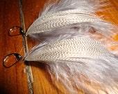 Little Grey Feather Earrings