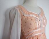 Gunne Sax Vintage Flower Dress ,Mint, Amazing Beauty