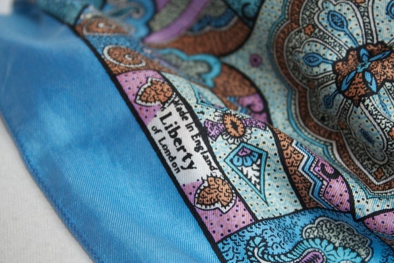 Reserve for Maggie LIBERTY of LONDON Vintage SILK Scarf Stunning 50s 60s
