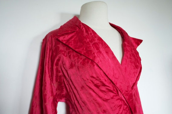 RESERVED for Yvette Vintage 1940's Fuchsia Pink Robe / Swing Coat
