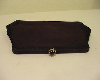 Vintage MM Faille Black Evening Clutch Purse   2011 - 1501