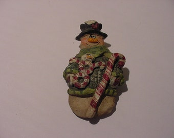 Vintage Christmas Snowman  Brooch  XMAS  146