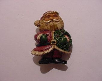 Vintage Santa Claus  Christmas Brooch   XMAS 170