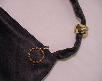 Vintage Graceline Original Black  Silk Purse   # HAS 51
