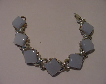 Vintage Light Blue Thermo Nuclear Plastic Bracelet  11 - 589