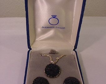 Vintage Germany Necklace And Screw On Earring Set In Original Gift Box 11 - 1487