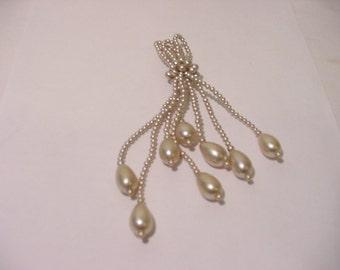 Vintage Faux Pearl Tassel  11 - 869