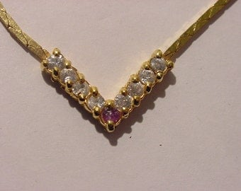 Vintage Rhinestone Necklace  11 - 2040