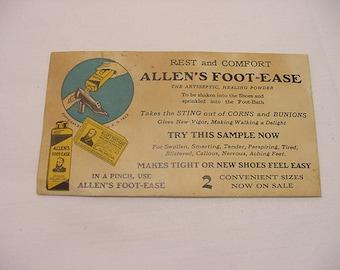 Vintage  Allen's Foot Ease Sample Envelope  11 - 2077