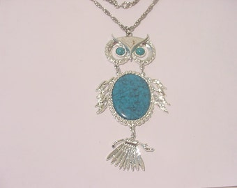 Vintage Wise Owl Pendant Necklace In Original Gift Box  11 - 2132