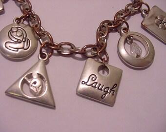 Vintage Seasons Of Life Toggle Charm Bracelet  11 - 1043