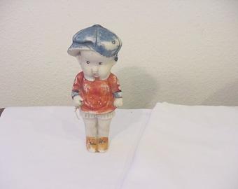 Vintage Large Frozen Charlotte  Boy Doll   12 - 359