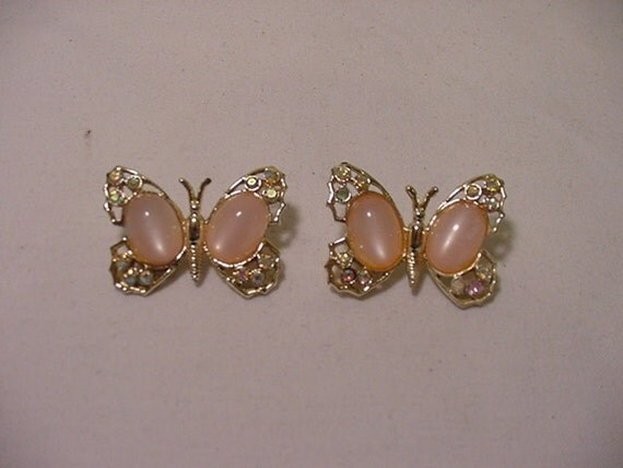Vintage Pink Butterfly Duet  Scatter Pins   2011 - 1521