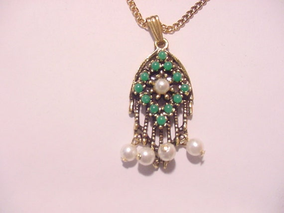 Vintage 1970's Era Sarah Coventry Heirloom Treasure Necklace  New Old Stock In Original Box  12 - 254