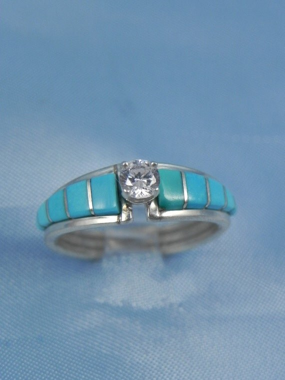 Vintage Native American Engagement Ring FREE SHIPPING