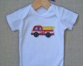 Fire Truck Onesie/T Shirt