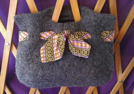 Bags and Purses clutch felted vintage mens tie accent