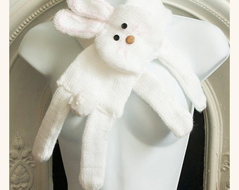 white bunny scarf cowl